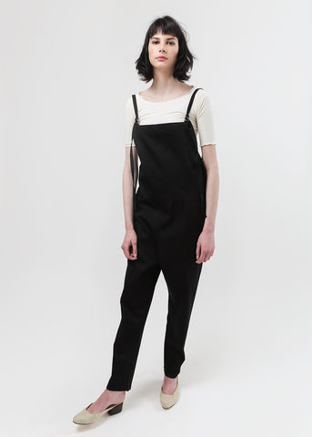 Black Long Strap Overalls
