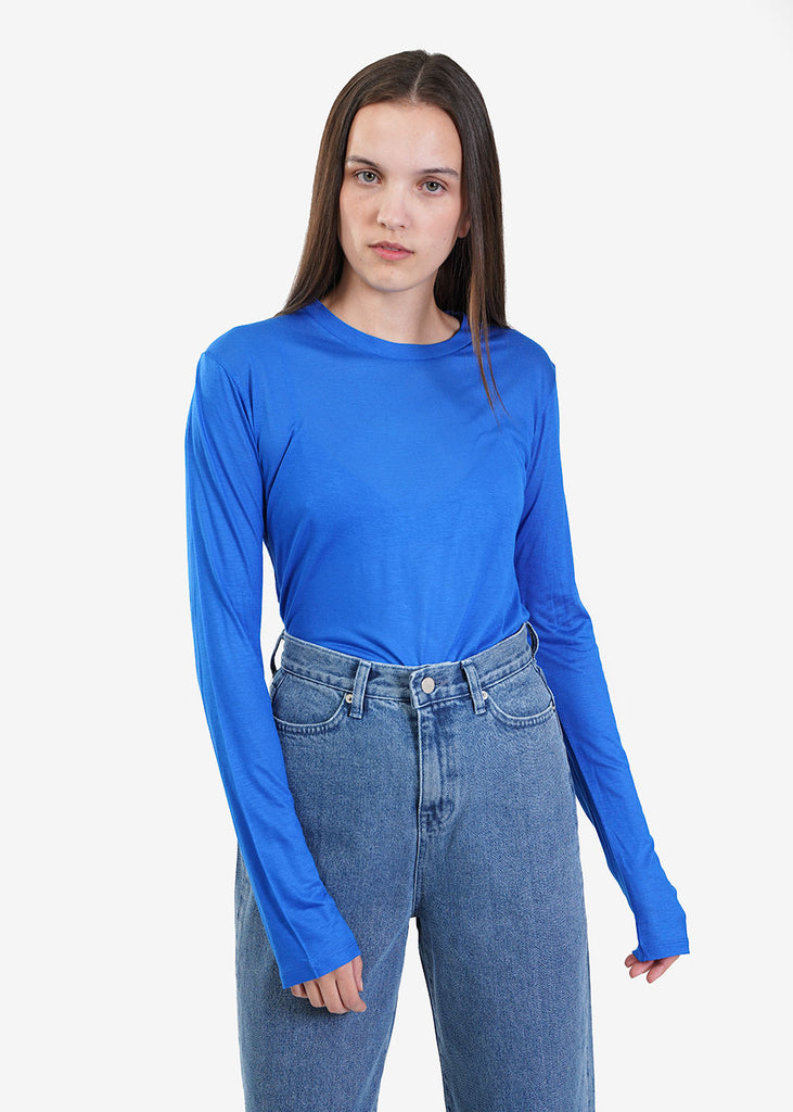 Baserange Hanja Blue Long Sleeve Tee — Shop sustainable fashion and slow fashion at New Classics Studios