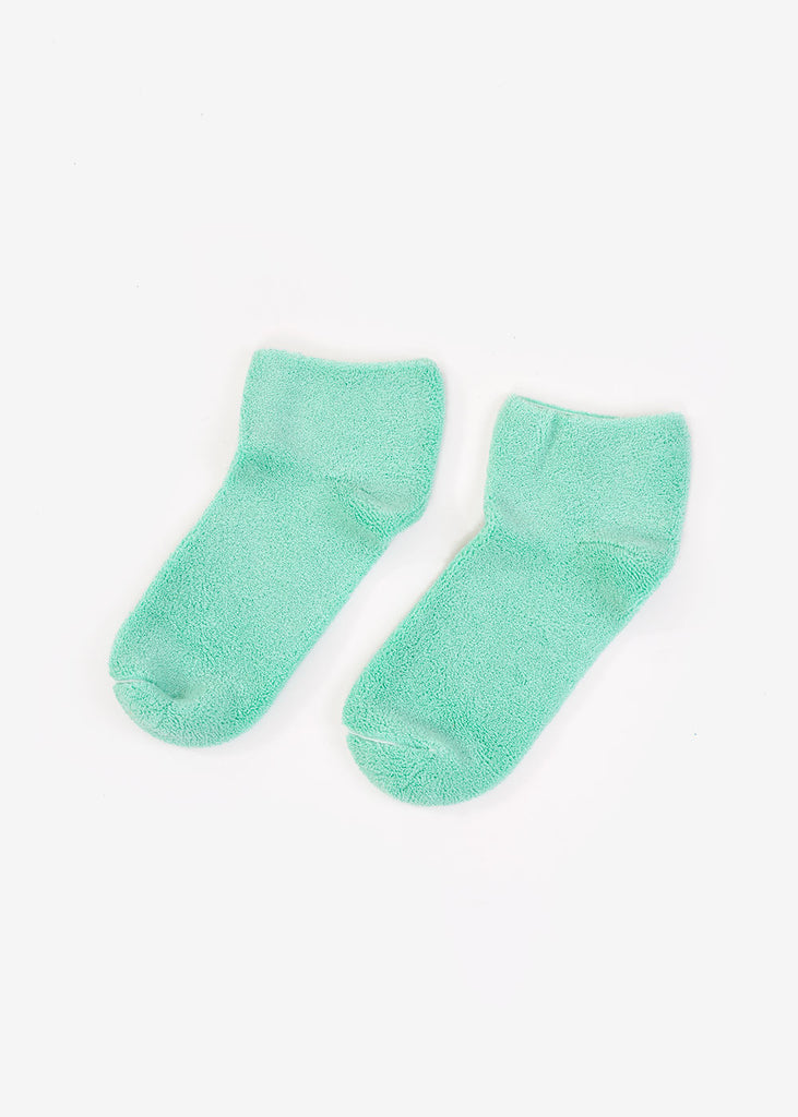 Mint Buckle Ankle Socks