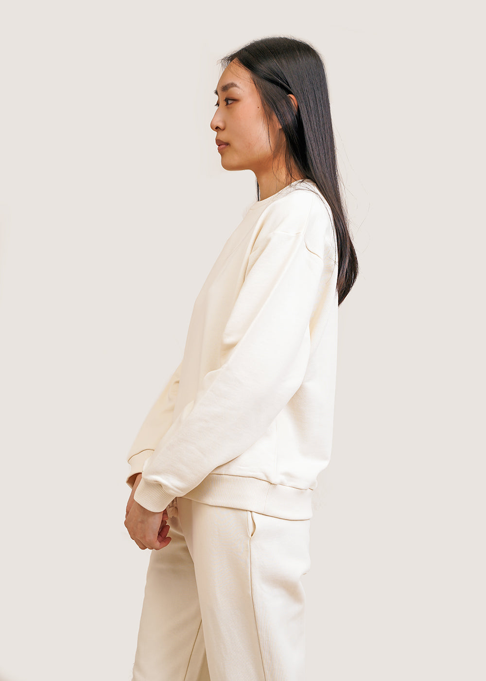 Off-White Loose Sweat Shirt