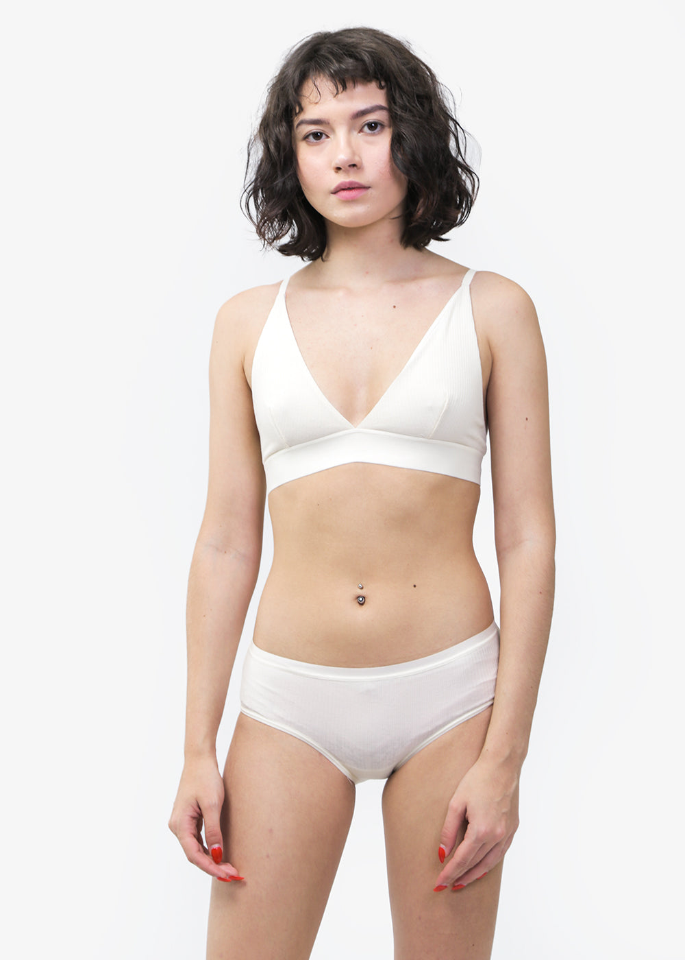 Baserange Triangle Rib Bra — Shop sustainable fashion and slow fashion at New Classics Studios