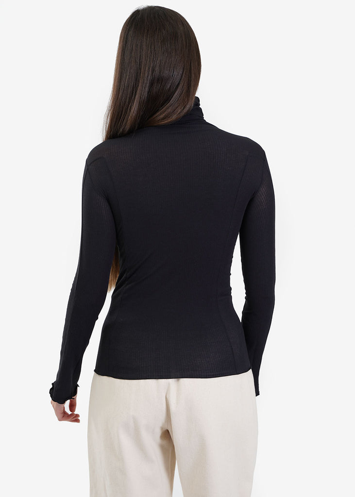 Baserange Black Omato Turtleneck — Shop sustainable fashion and slow fashion at New Classics Studios