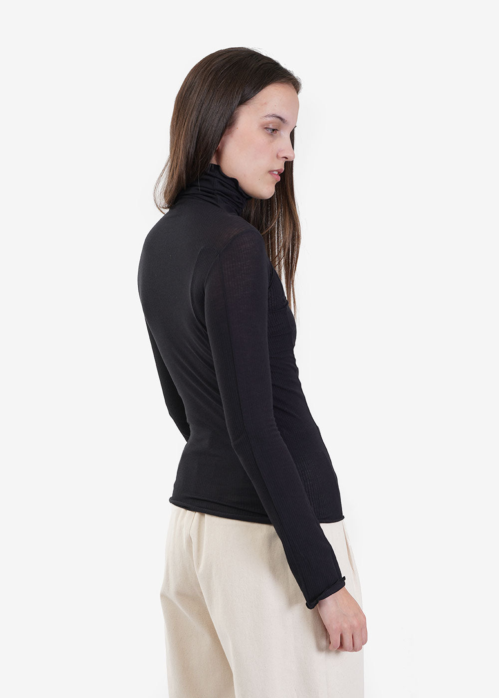 Baserange Black Omato Turtleneck — New Classics Studios
