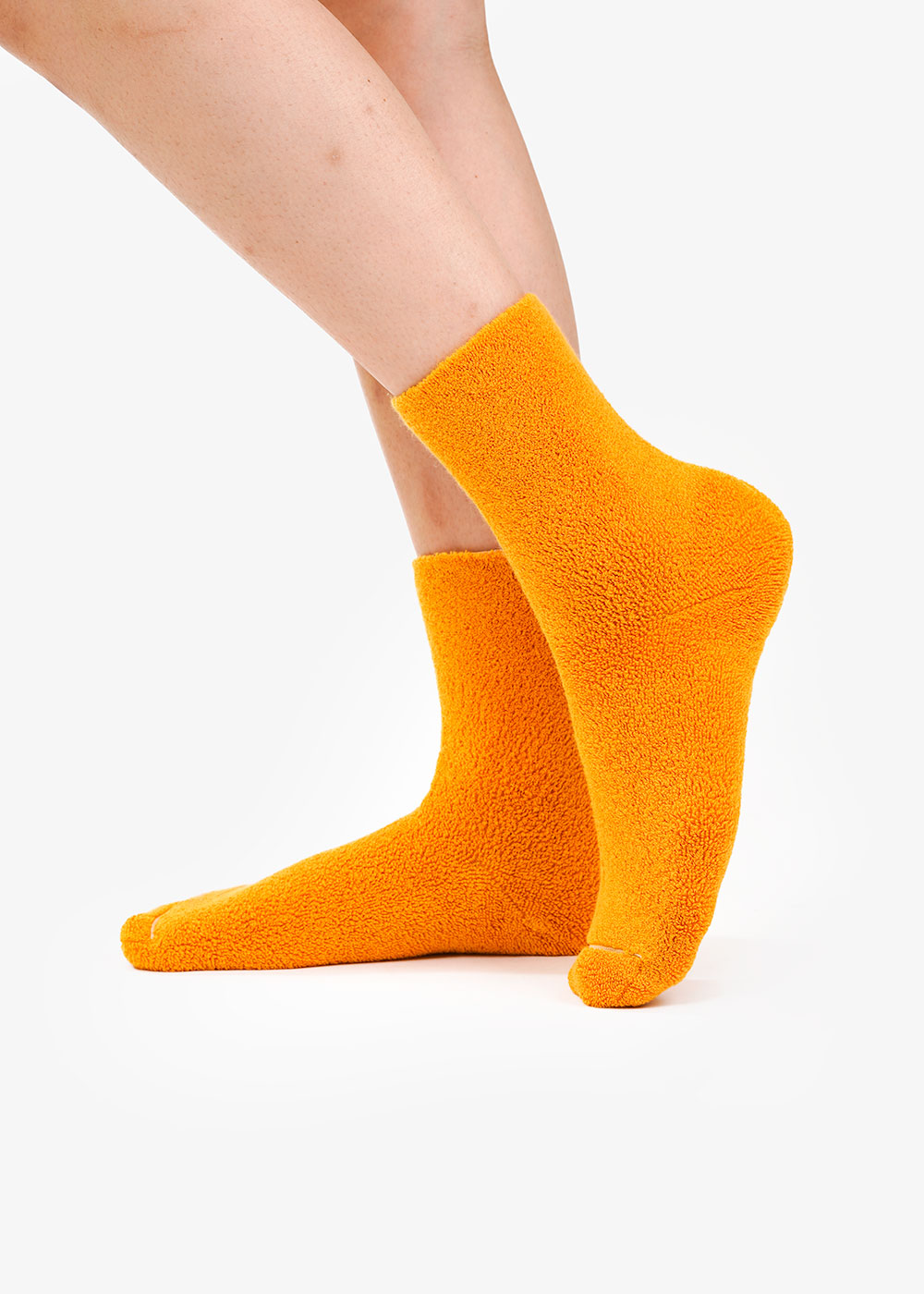 Baserange Braid Yellow Buckle Overankle Socks — Shop sustainable fashion and slow fashion at New Classics Studios
