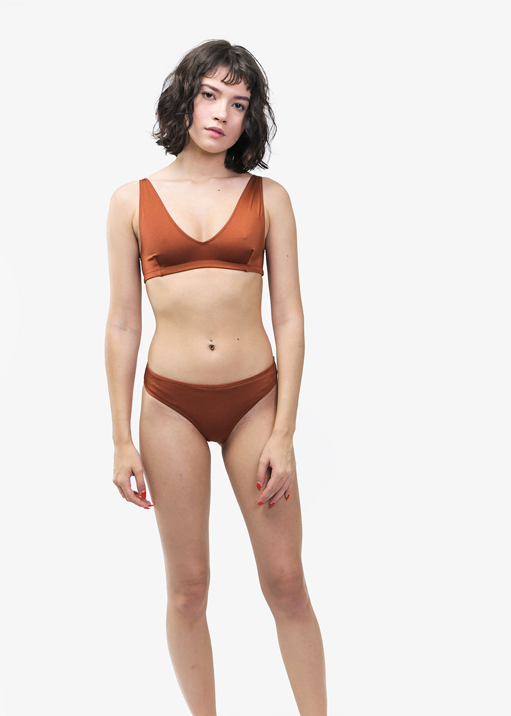 Baserange Lobe Brown Bell Swim Pants — New Classics Studios