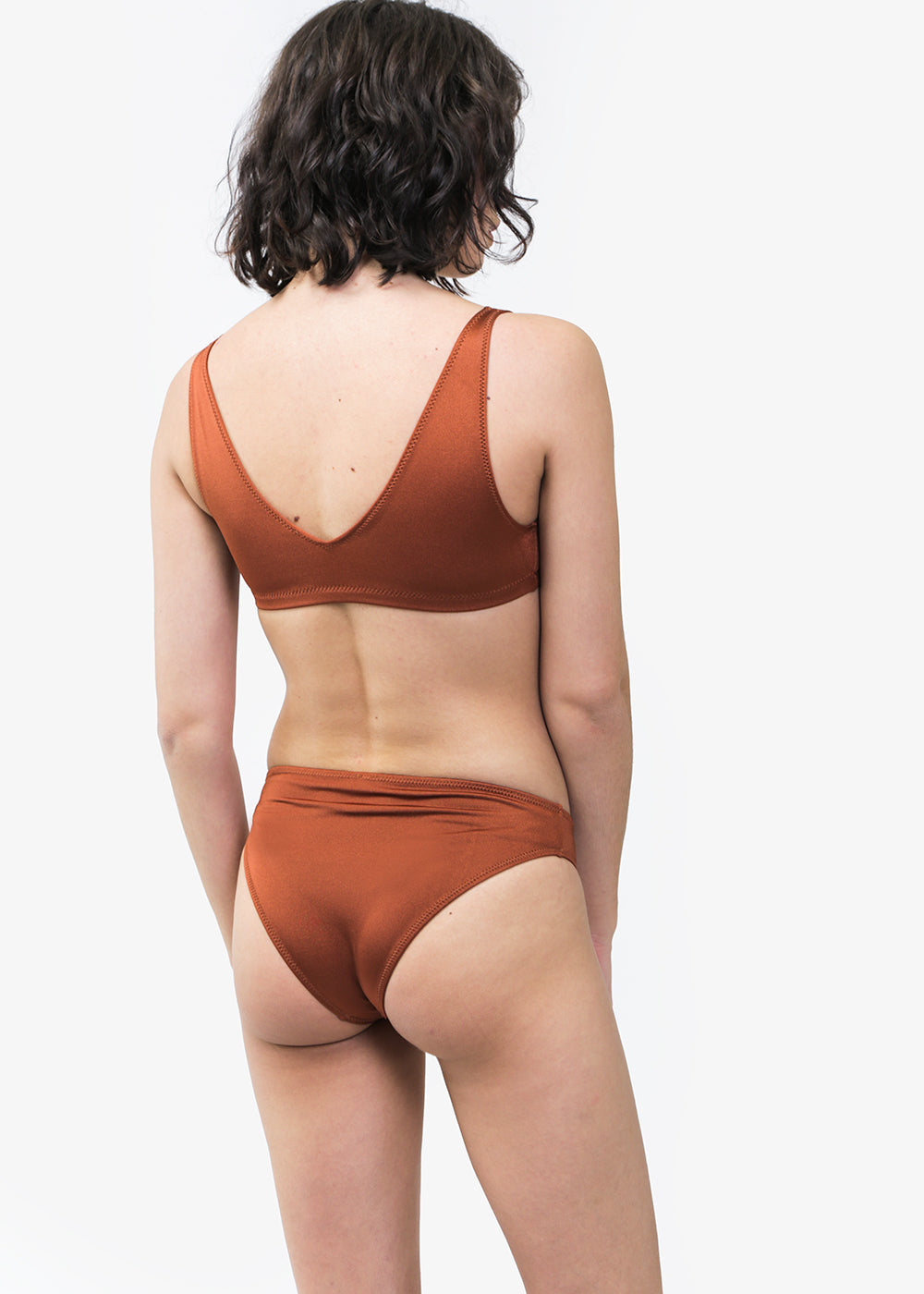 Baserange Lobe Brown Bell Swim Pants — Shop sustainable fashion and slow fashion at New Classics Studios
