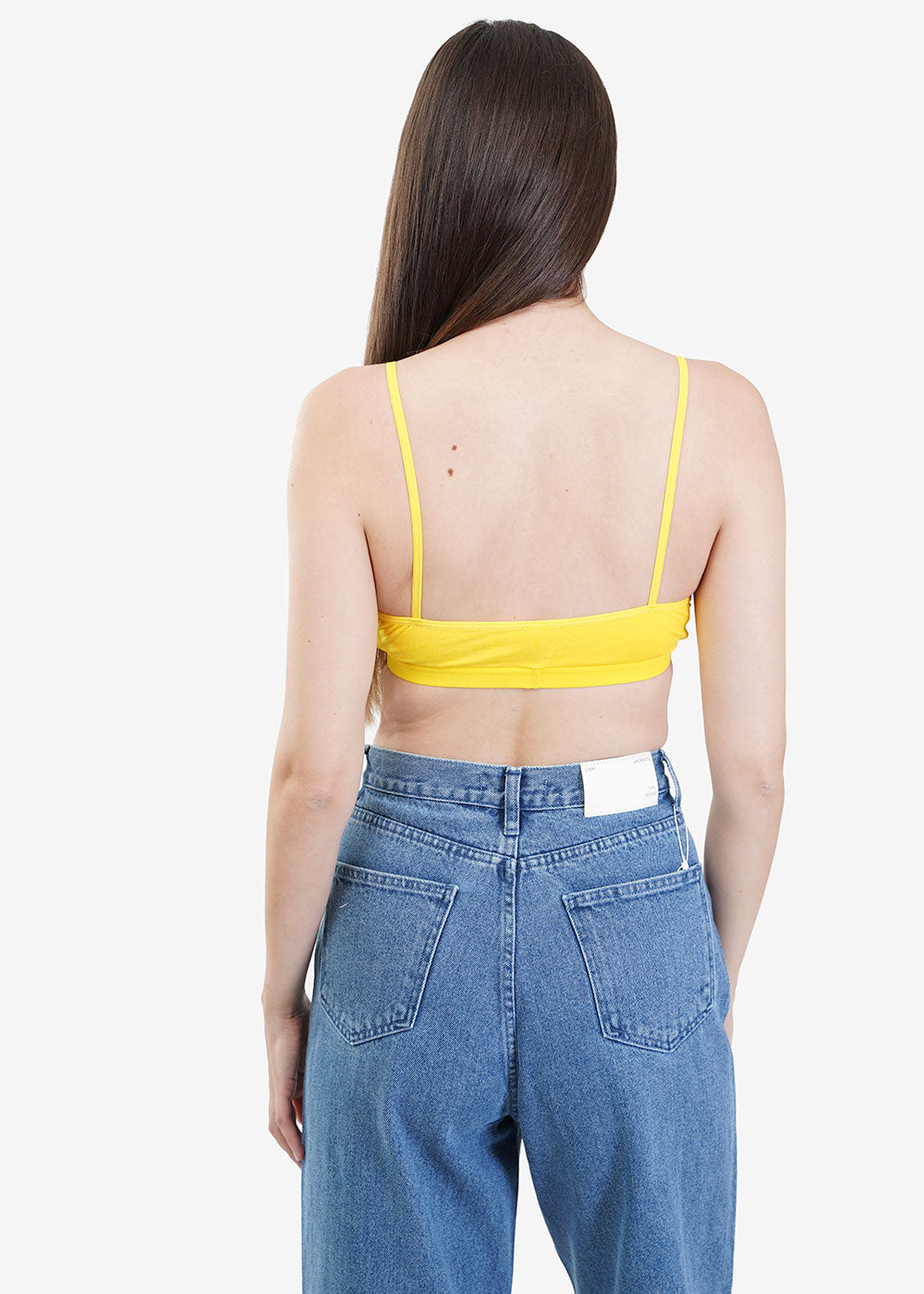 Baserange Braid Yellow Panarea Bra — Shop sustainable fashion and slow fashion at New Classics Studios