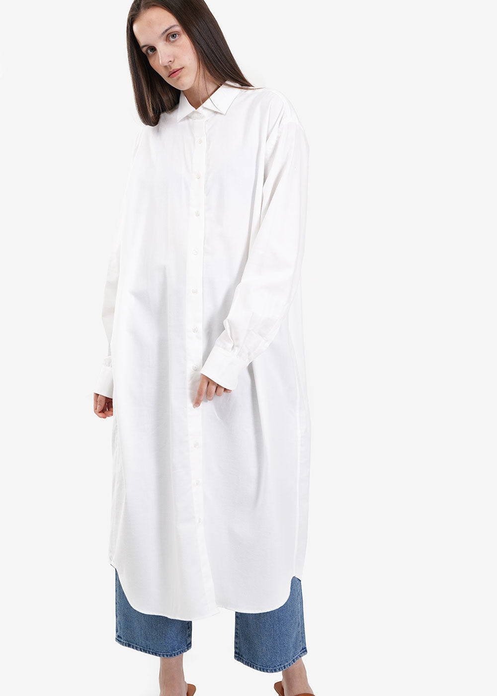 Baserange Off White Ole Shirt Dress — New Classics Studios