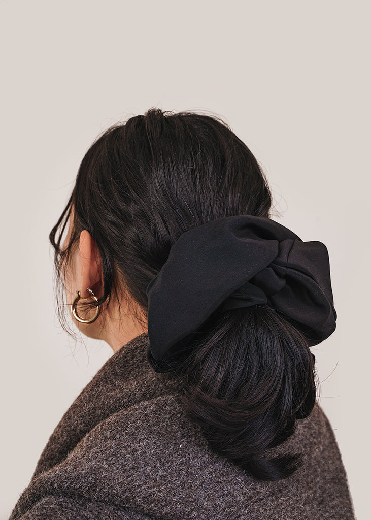 Black Silk XXL Scrunchie