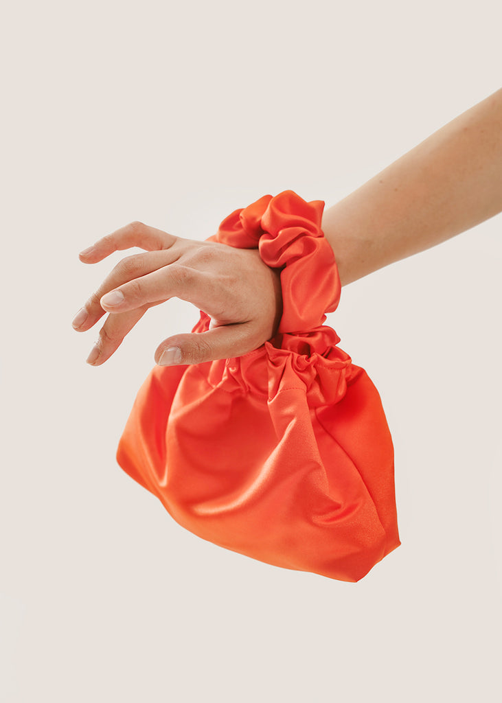Orange Halo Scrunchie Bag