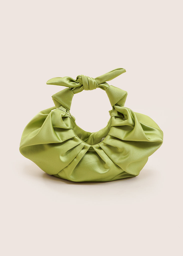Lime Green Kiku Croissant Purse