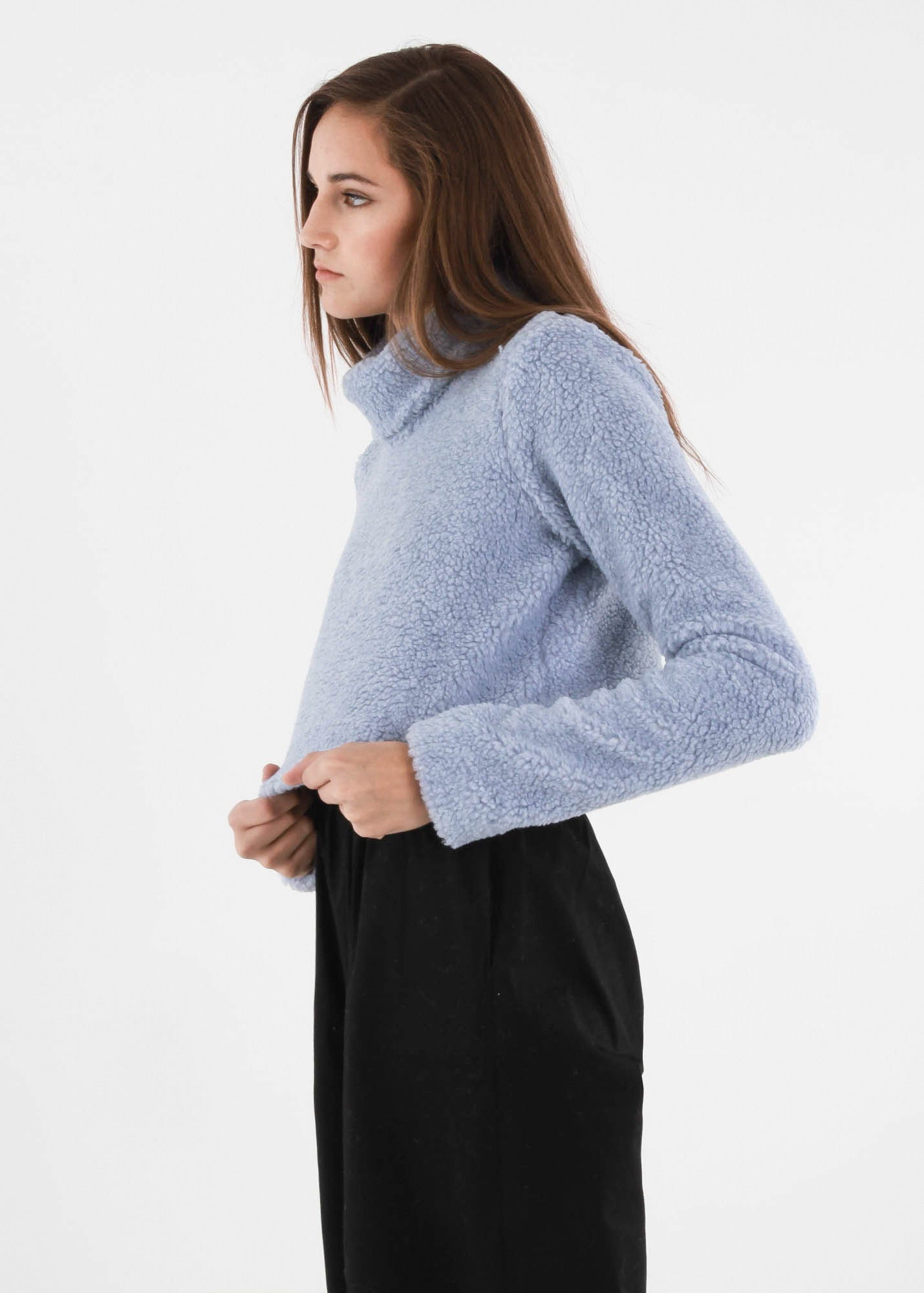 Carleen Powder Funnel Neck Sweater — New Classics Studios