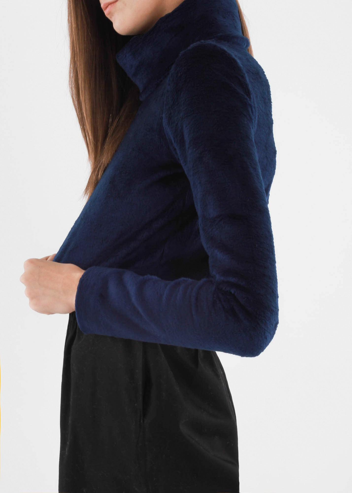 Carleen Navy Funnel Neck Sweater - New Classics Studios