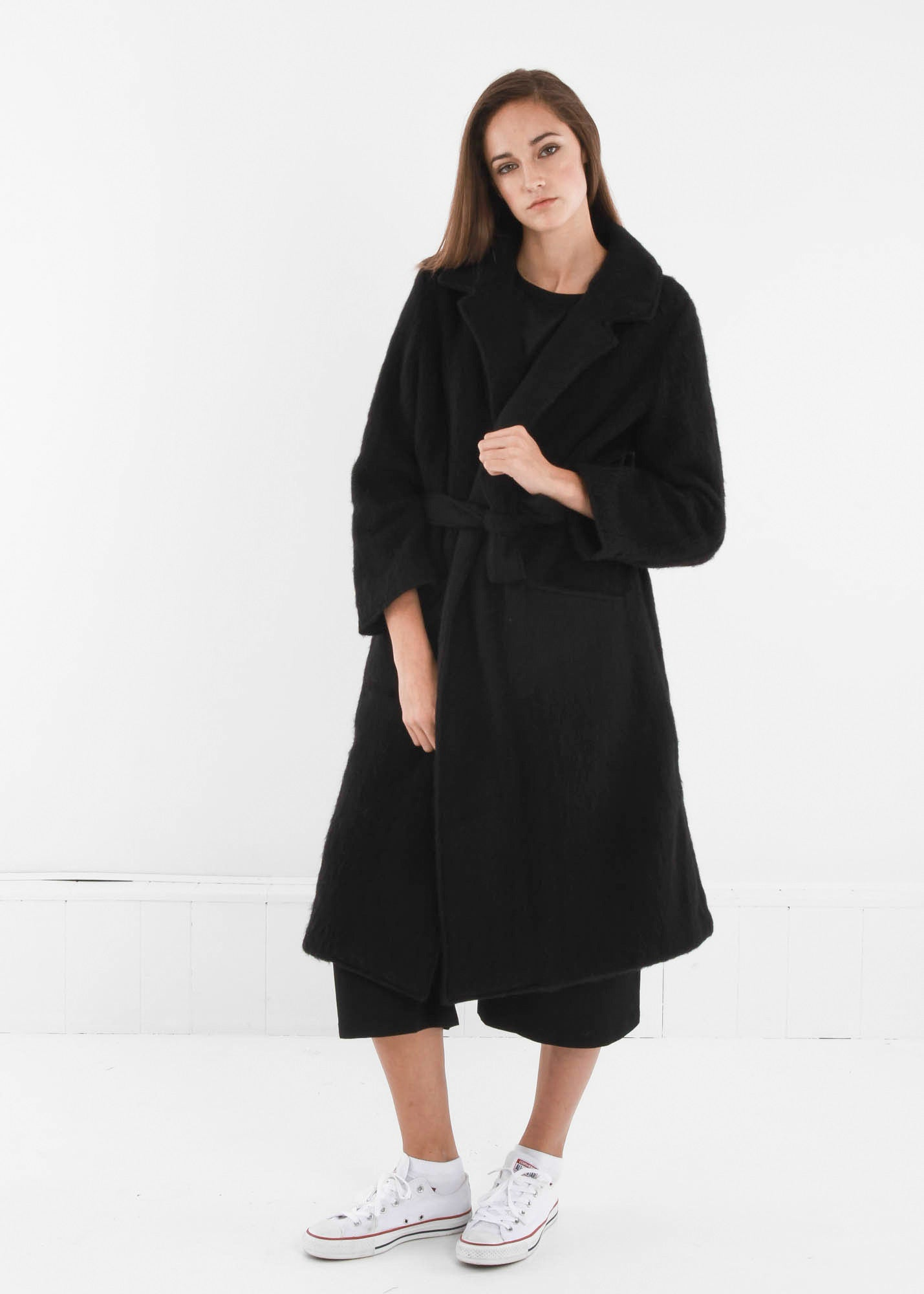 Base Range Black Pyrénées Coat - New Classics Studios  - 3