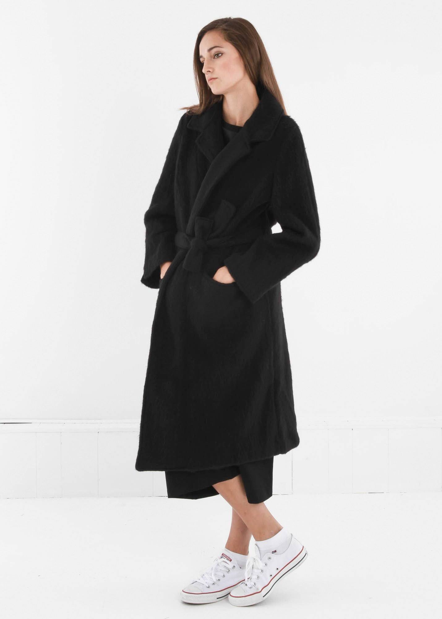 Base Range Black Pyrénées Coat - New Classics Studios  - 1