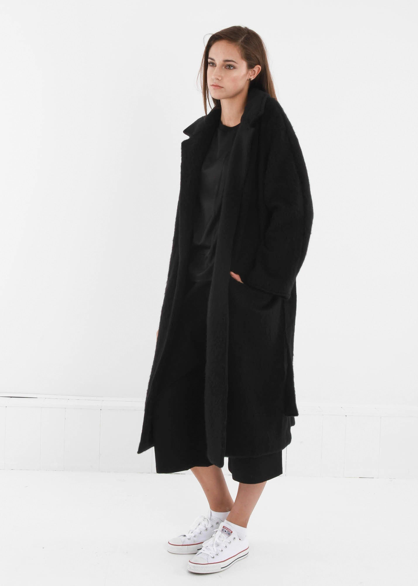 Base Range Black Pyrénées Coat - New Classics Studios  - 4