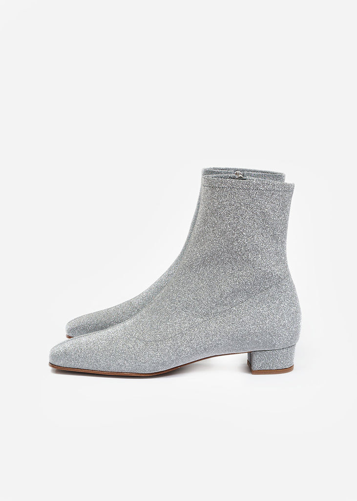 By FAR Silver Glitter Este Boot — New Classics Studios