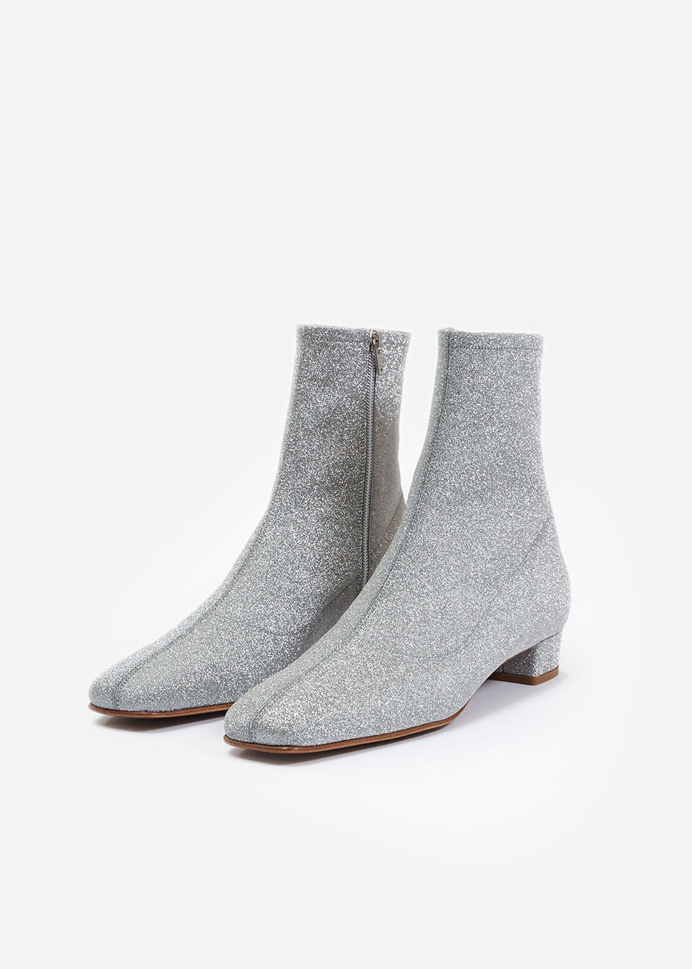 BY FAR Silver Glitter Este Boot — Shop sustainable fashion and slow fashion at New Classics Studios