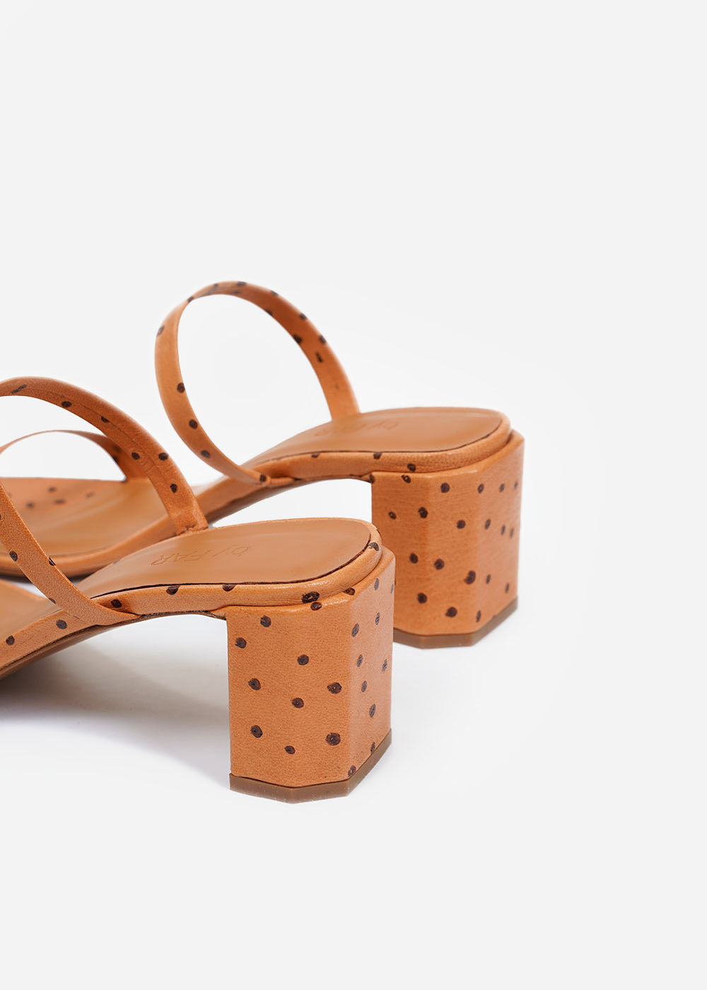 BY FAR Nude Ostritch Tanya Mule — Shop sustainable fashion and slow fashion at New Classics Studios