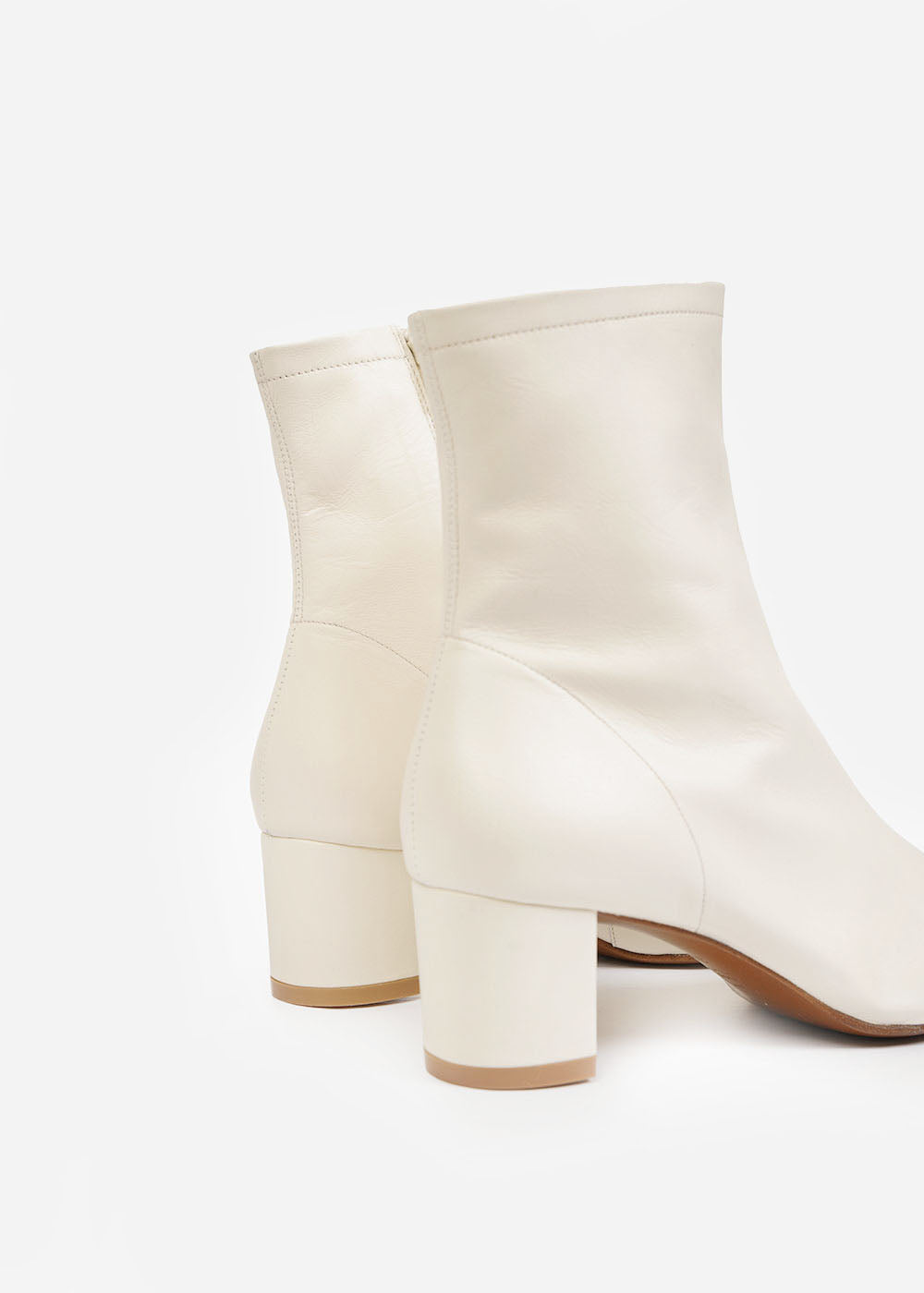 Sofia Boots in White by BY FAR – New