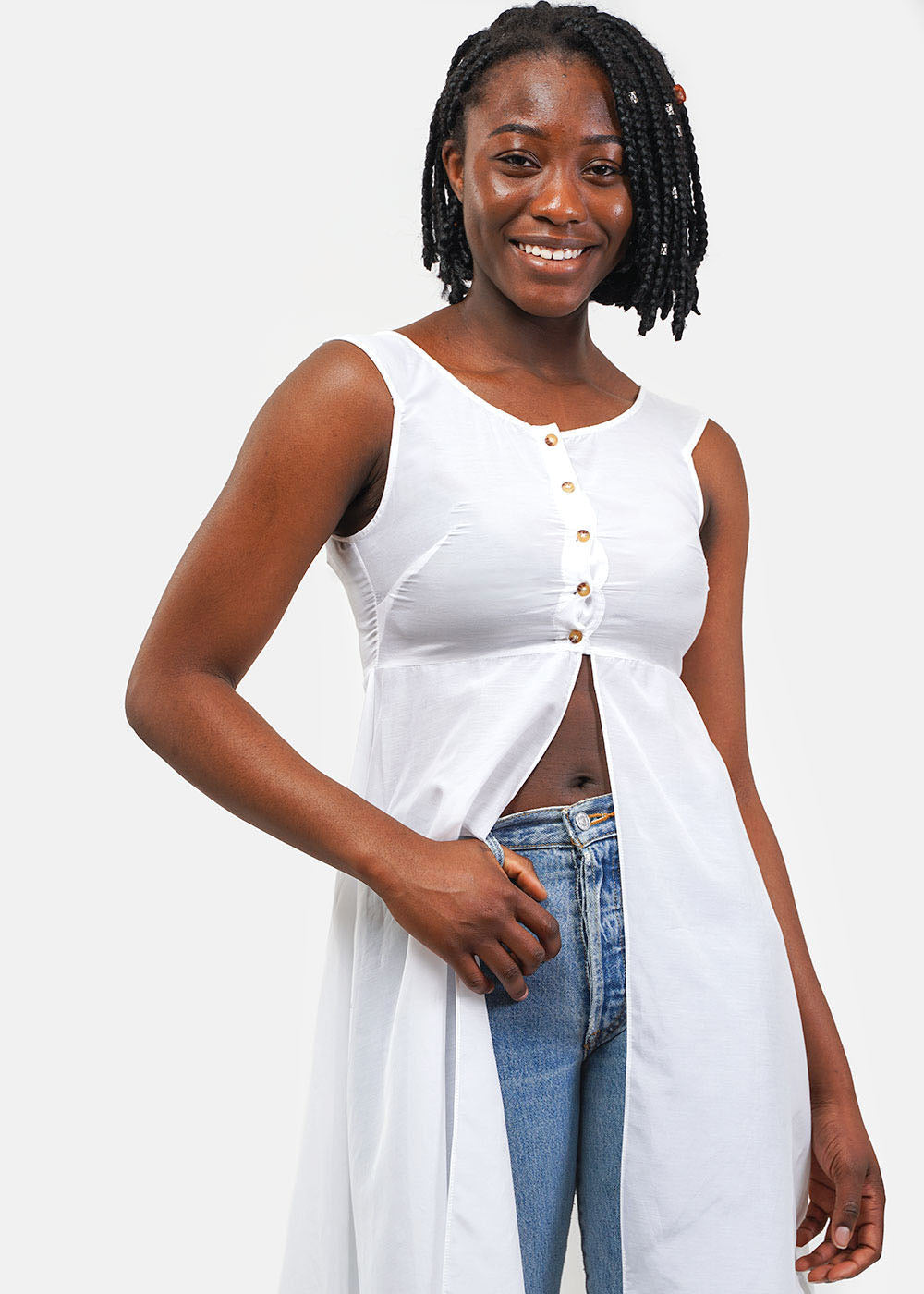 Ciao Lucia Shell White Bianca Top — Shop sustainable fashion and slow fashion at New Classics Studios