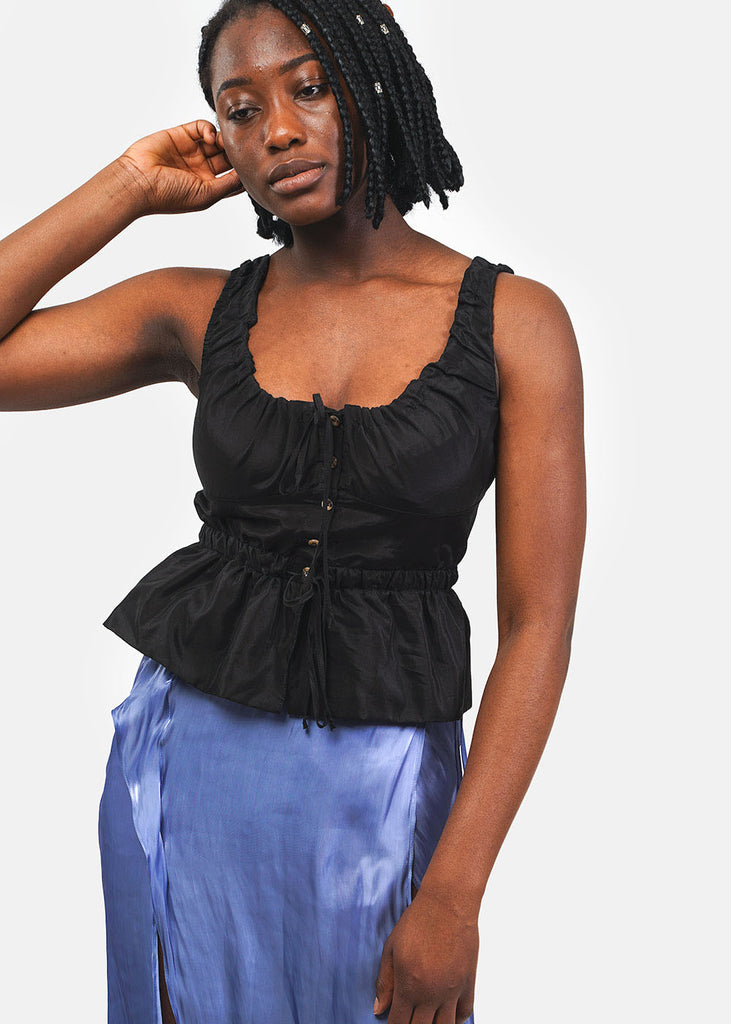 Ciao Lucia Black Ilaria Top — Shop sustainable fashion and slow fashion at New Classics Studios