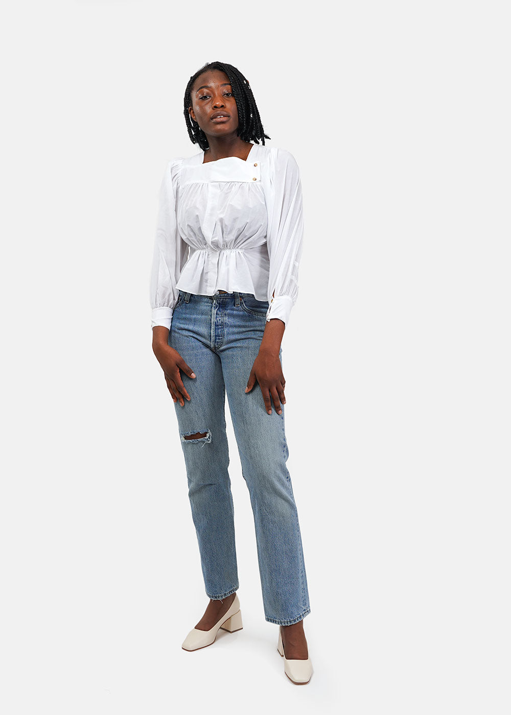 Ciao Lucia Shell White Allegra Shirt — Shop sustainable fashion and slow fashion at New Classics Studios