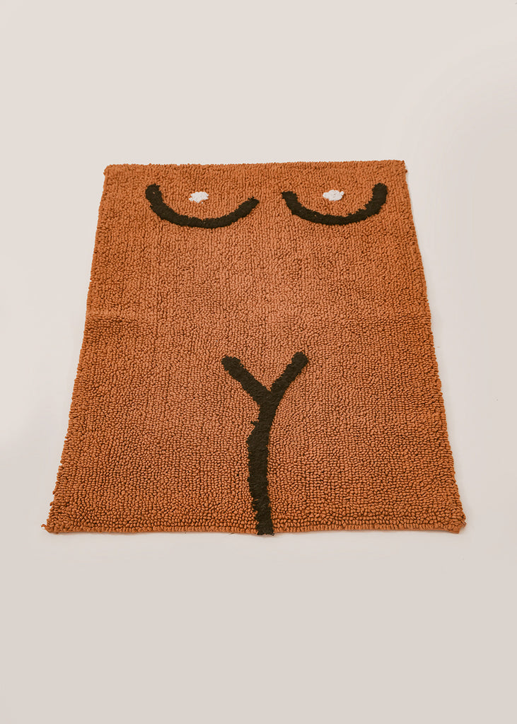 Brown Torso Bath Mat