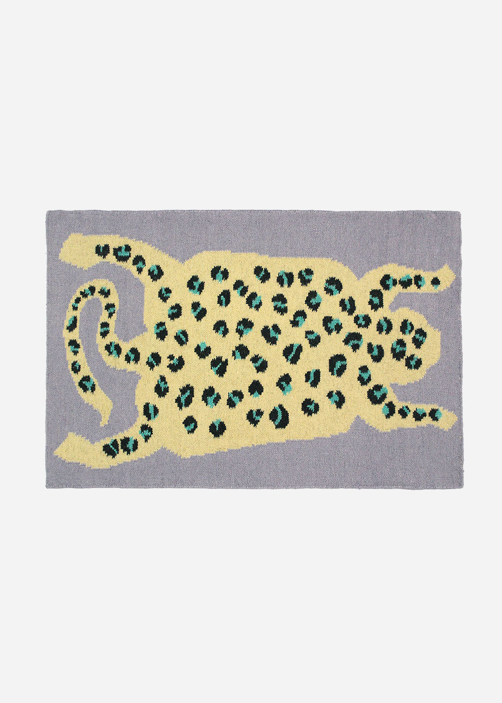 Cold Picnic Leopard Flat Weave Rug — Shop sustainable fashion and slow fashion at New Classics Studios