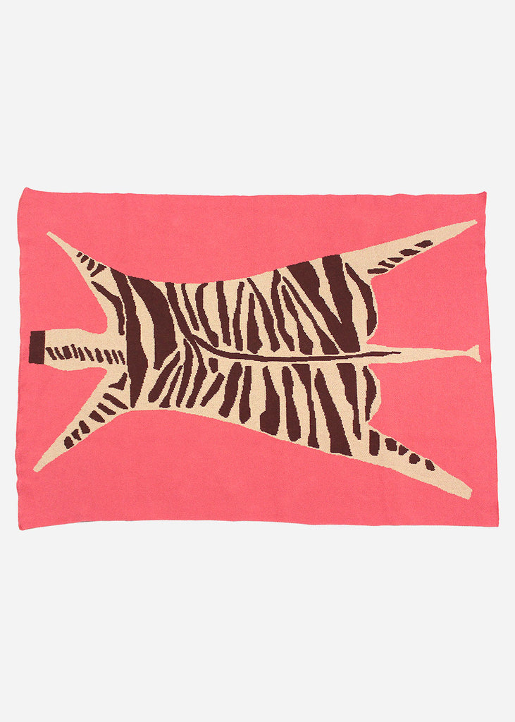 Zebra Knit Blanket