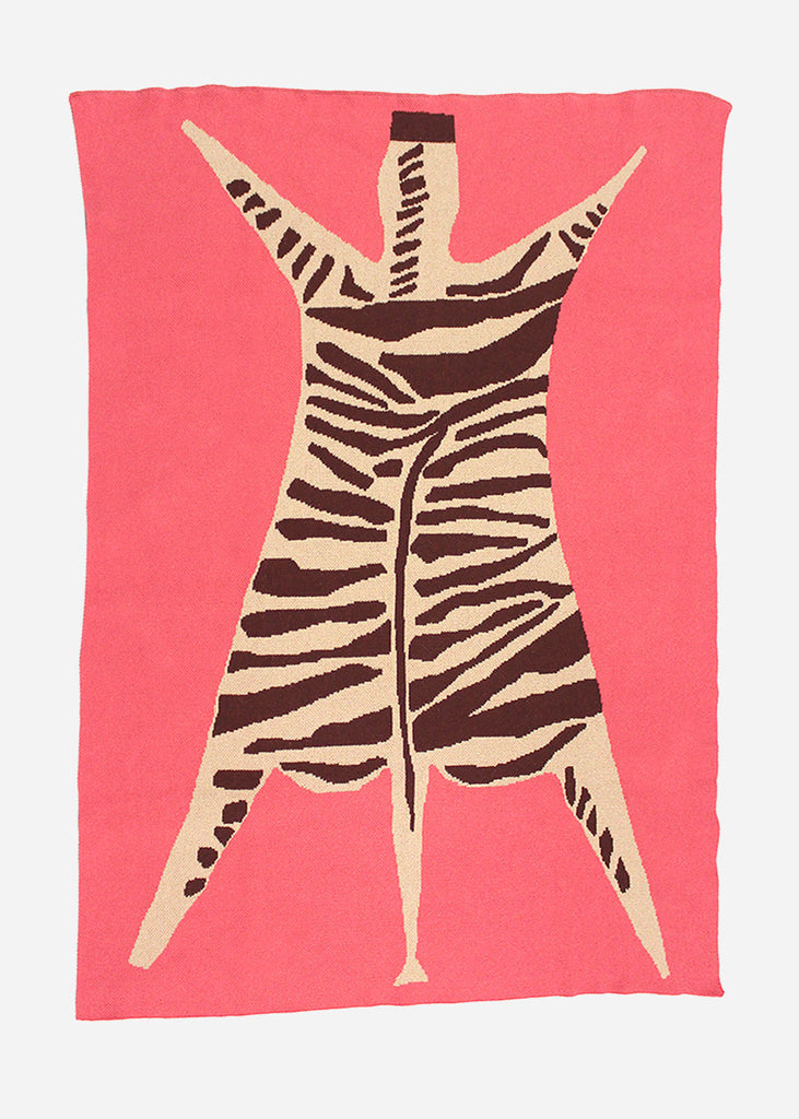 Cold Picnic Zebra Knit Blanket — Shop sustainable fashion and slow fashion at New Classics Studios