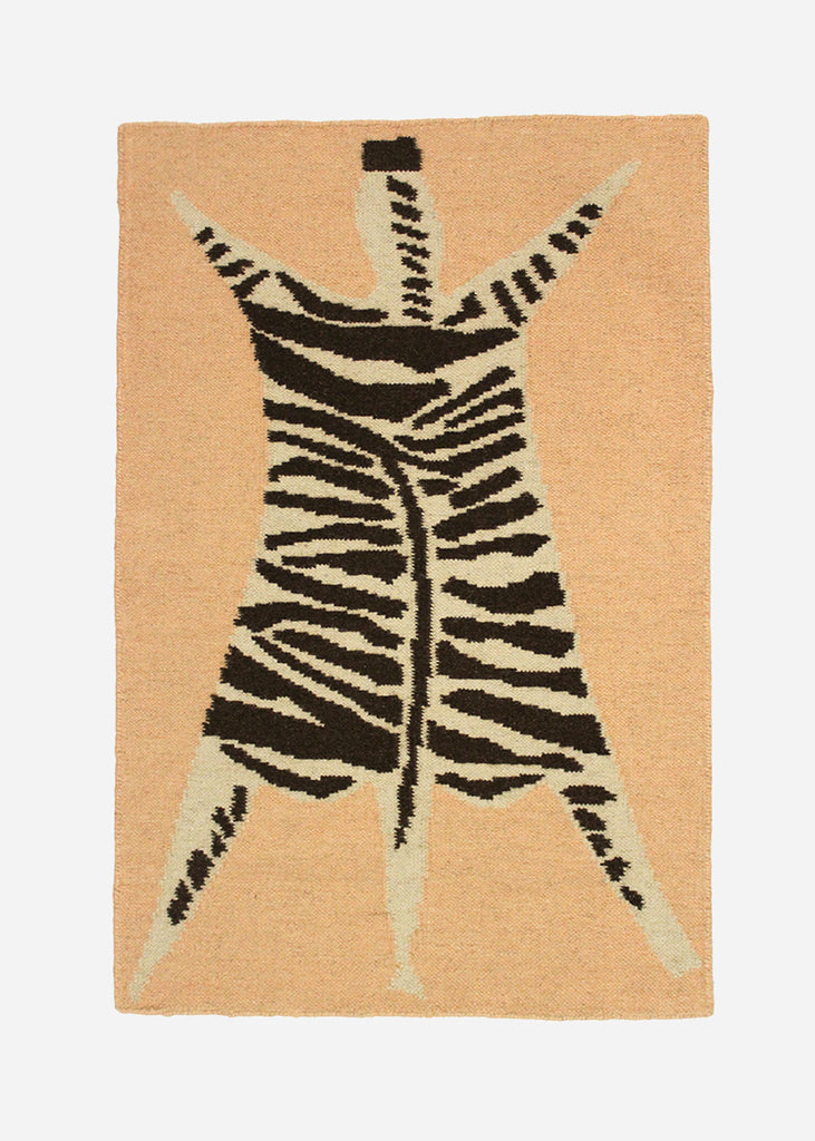 Cold Picnic Zebra Flat Weave Rug — Shop sustainable fashion and slow fashion at New Classics Studios