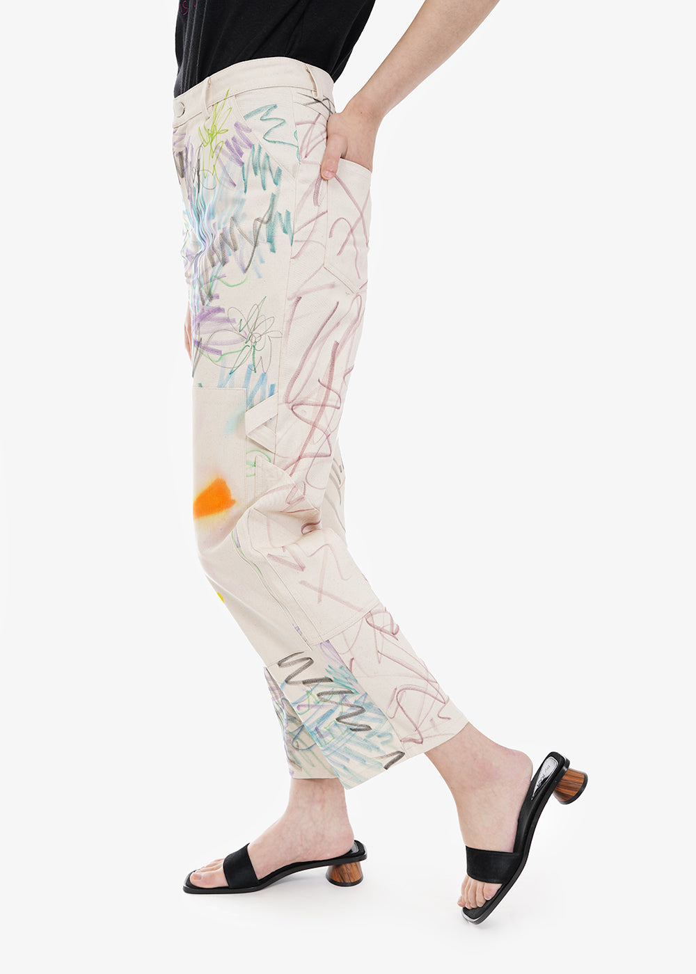 Collina Strada Scribble Denim Chason Print — Shop sustainable fashion and slow fashion at New Classics Studios