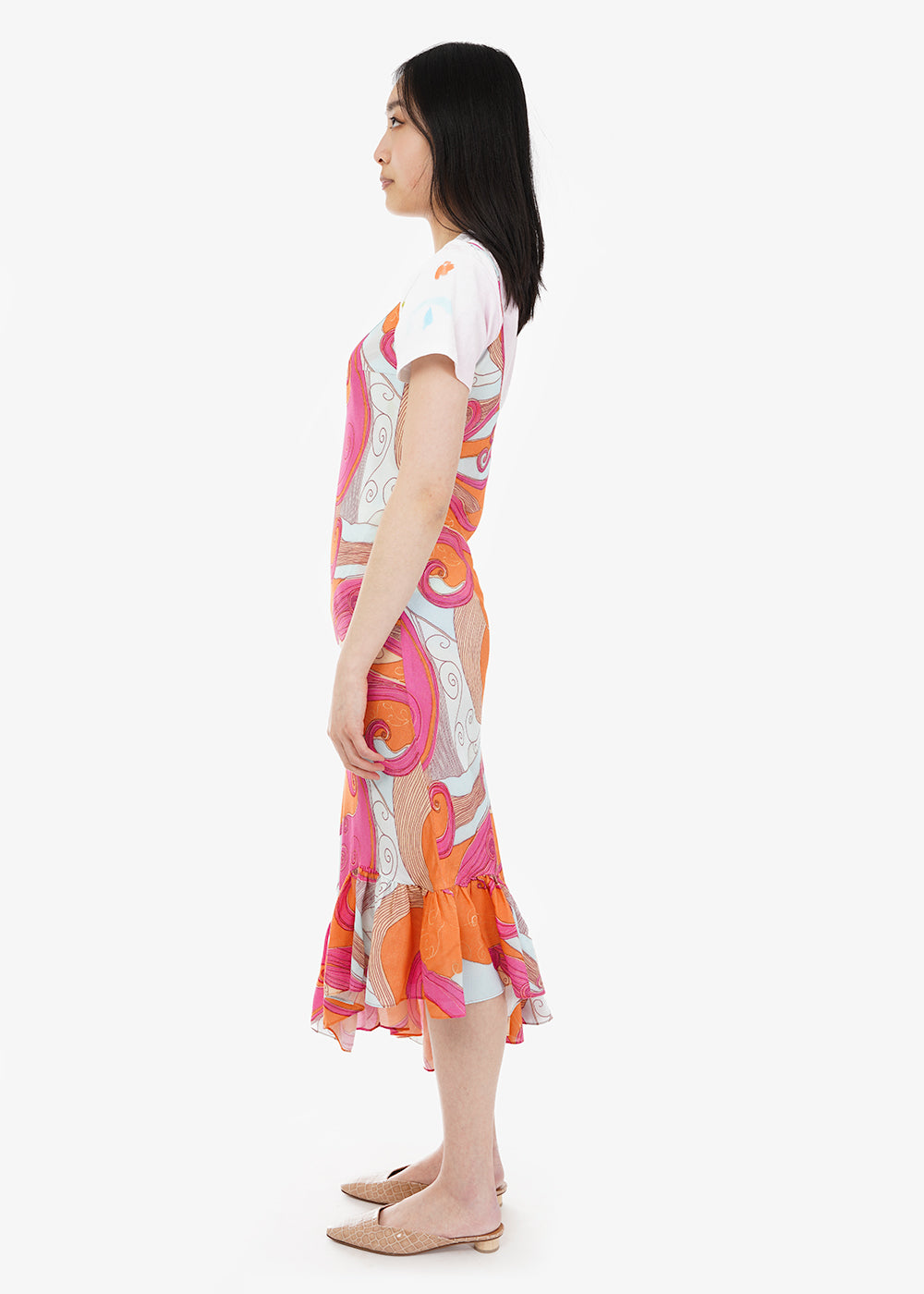 Collina Strada Pink Swirls Michi Dress — Shop sustainable fashion and slow fashion at New Classics Studios
