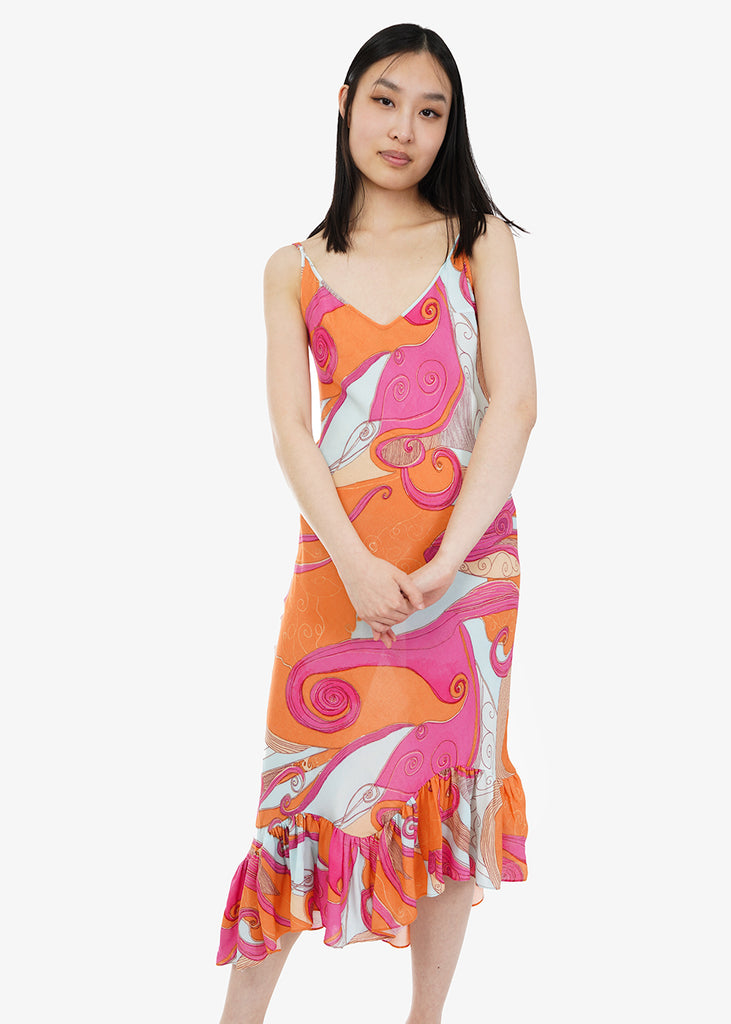 Pink Swirls Michi Dress - New Classics Studios