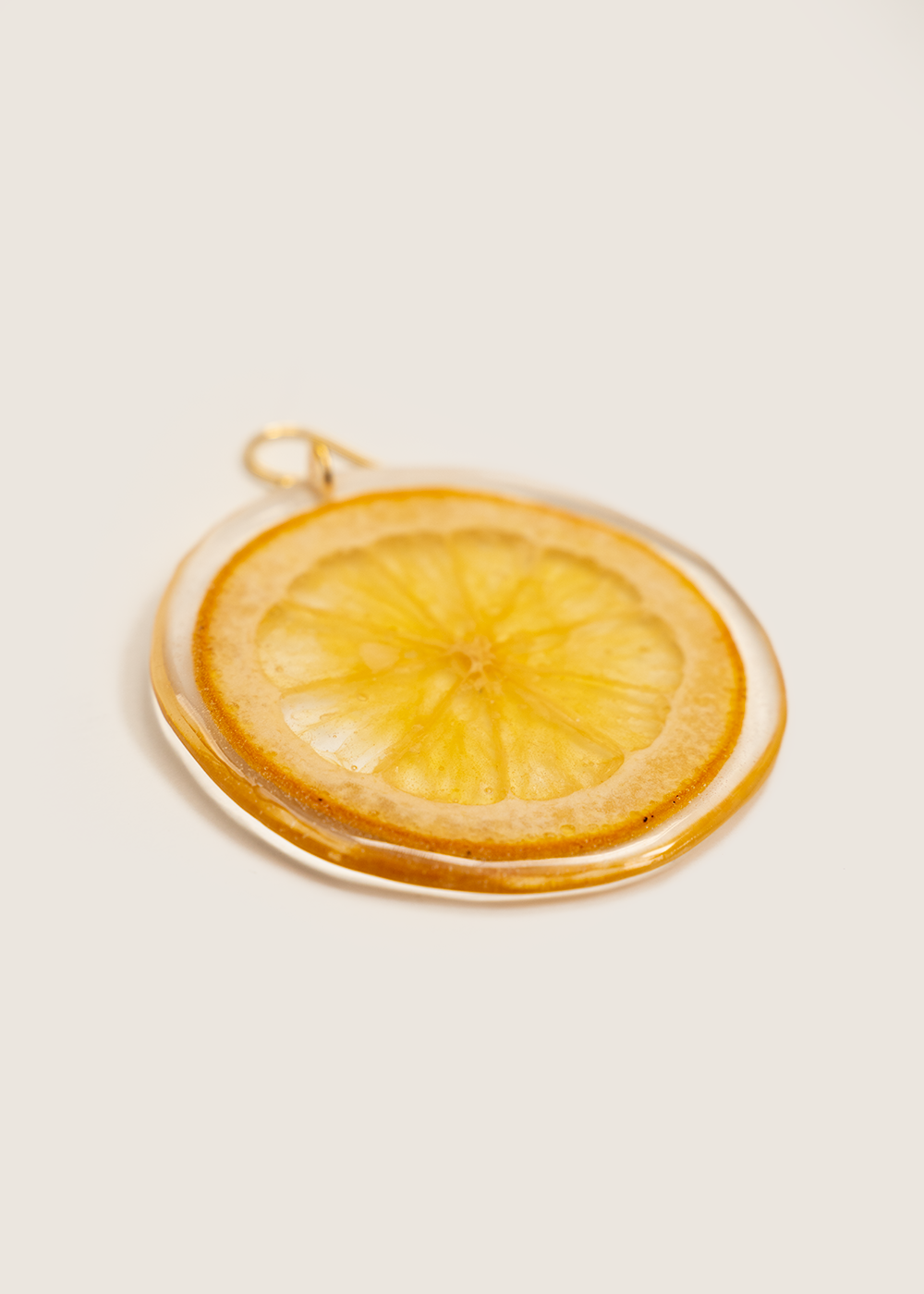 Orange Slice Earring