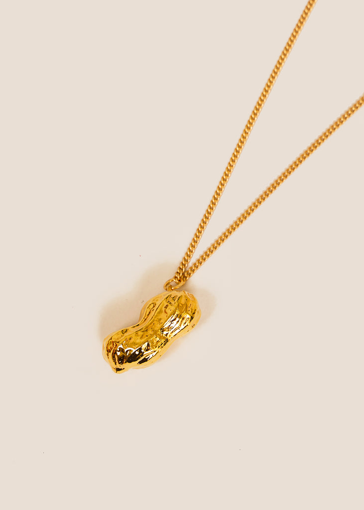 Gold Peanut Necklace