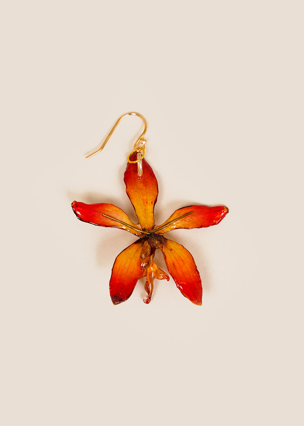 Pink Tiger Orchid Earring