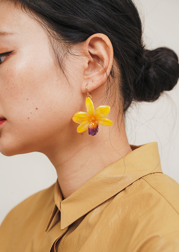 Sunshine Orchid Earring