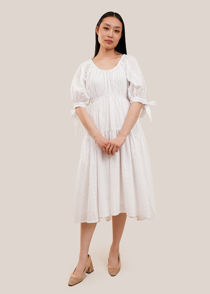 White Eyelet Jolen Dress