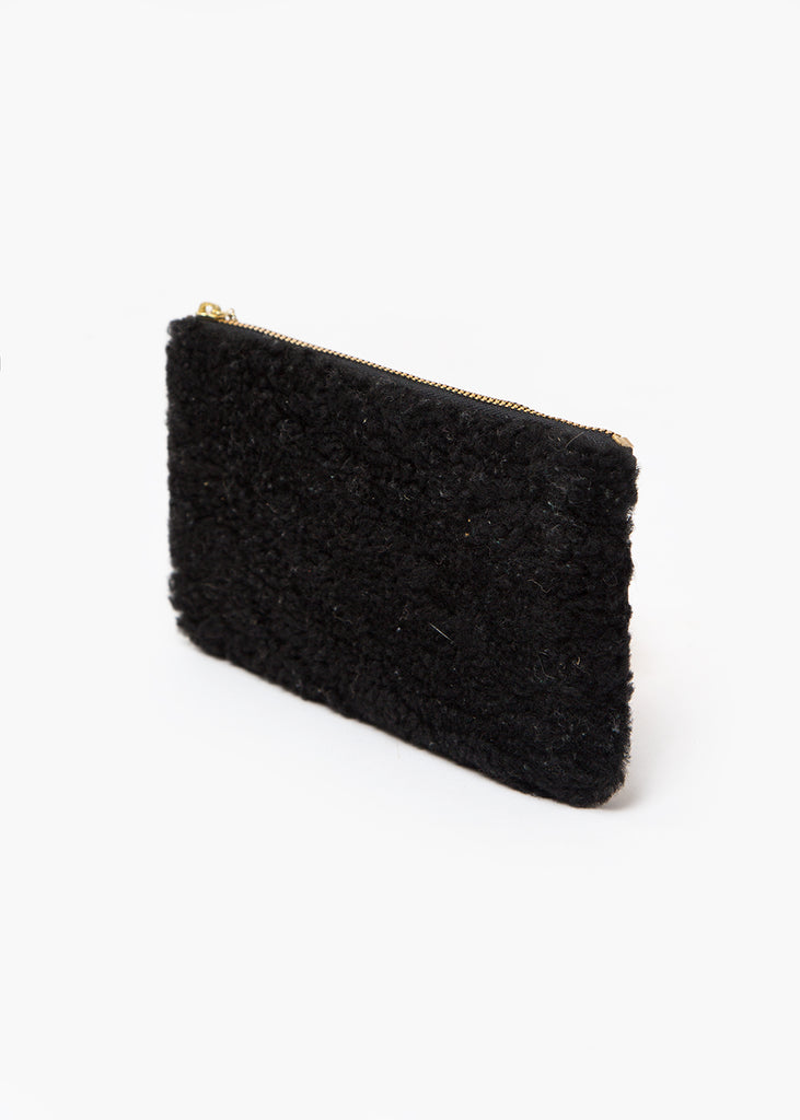 Erin Templeton Black Fuzzy Time For A Change Pouch — Shop sustainable fashion and slow fashion at New Classics Studios
