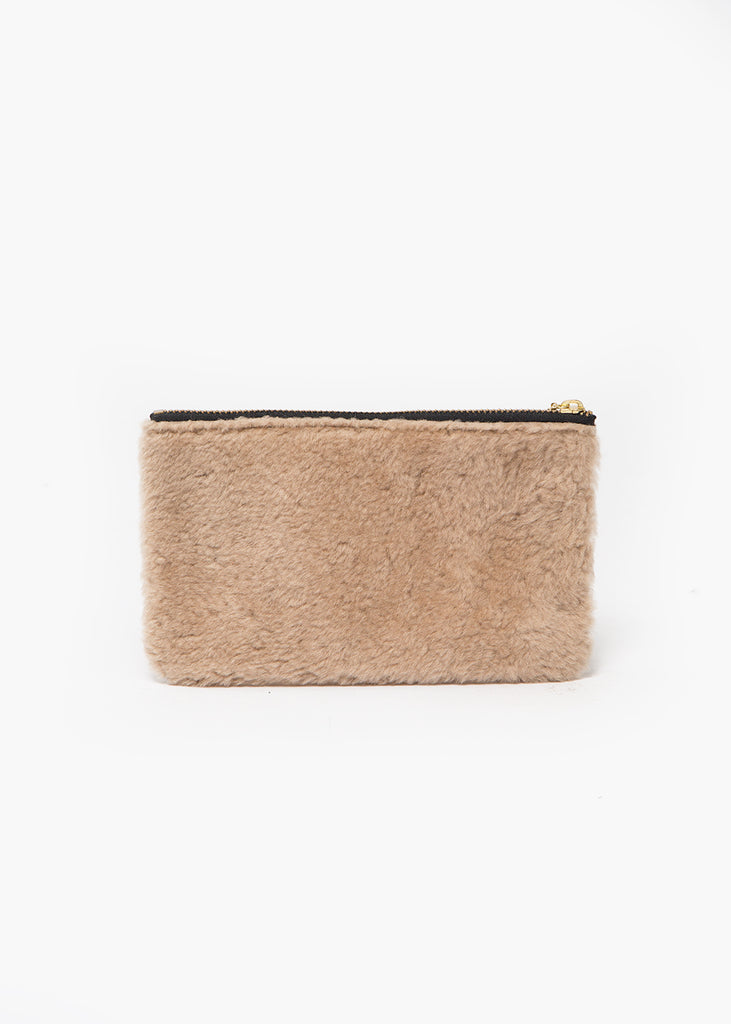 Erin Templeton Beige Fuzzy Time For A Change Pouch — Shop sustainable fashion and slow fashion at New Classics Studios