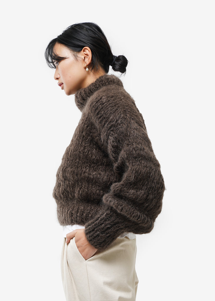 Frisson Knits Chocolate Isabella Sweater — Shop sustainable fashion and slow fashion at New Classics Studios