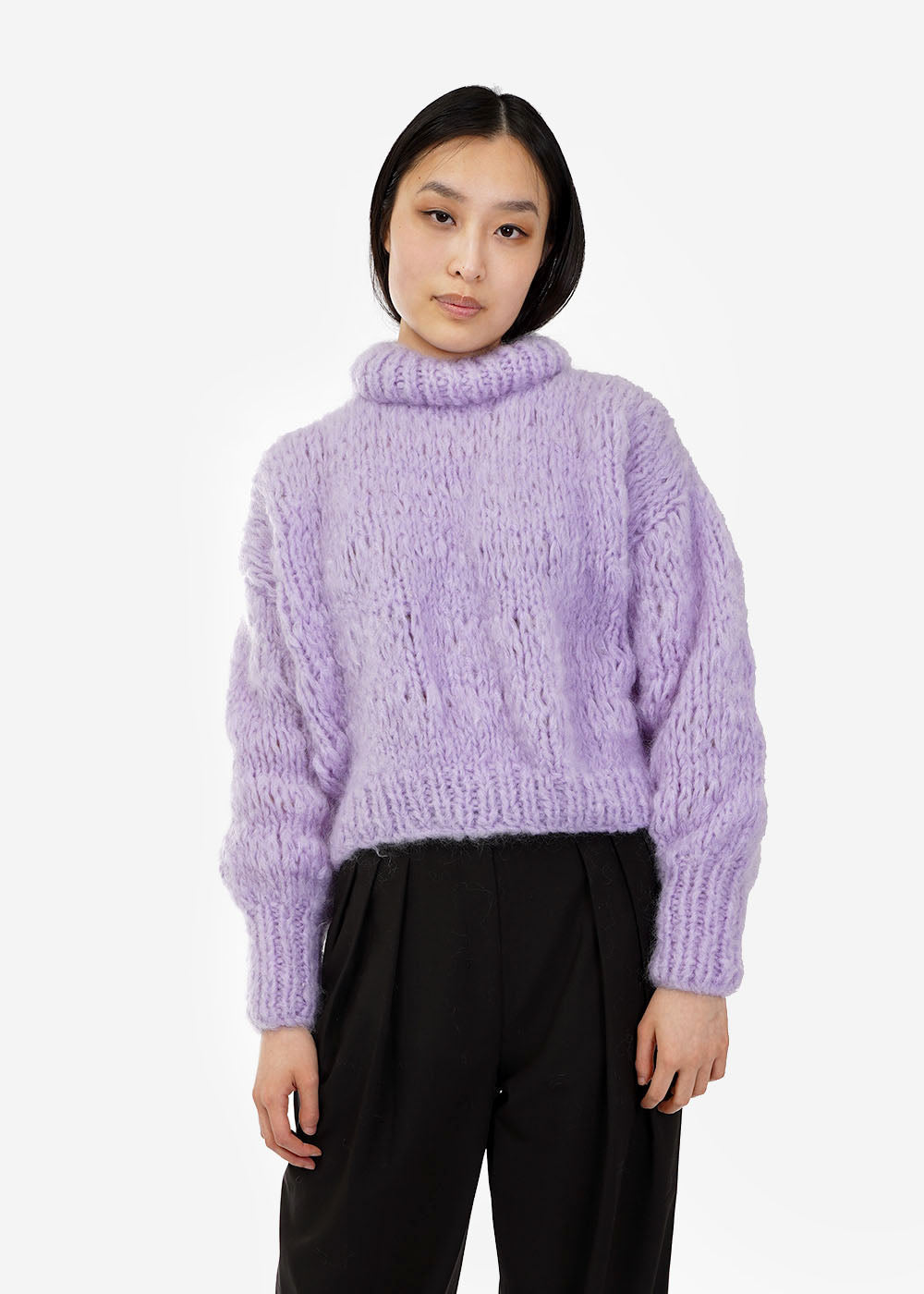 Frisson Knits Lilac Isabella Sweater — Shop sustainable fashion and slow fashion at New Classics Studios