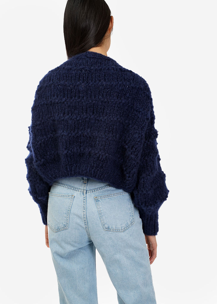 Frisson Knits Navy Becca Cardigan — Shop sustainable fashion and slow fashion at New Classics Studios
