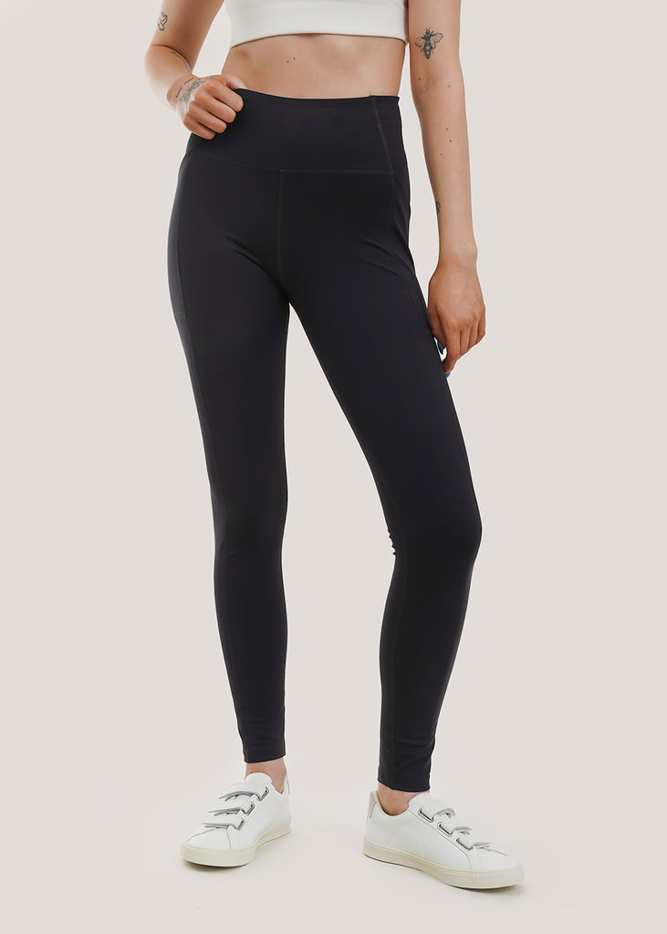 Black High Rise Pocket Legging
