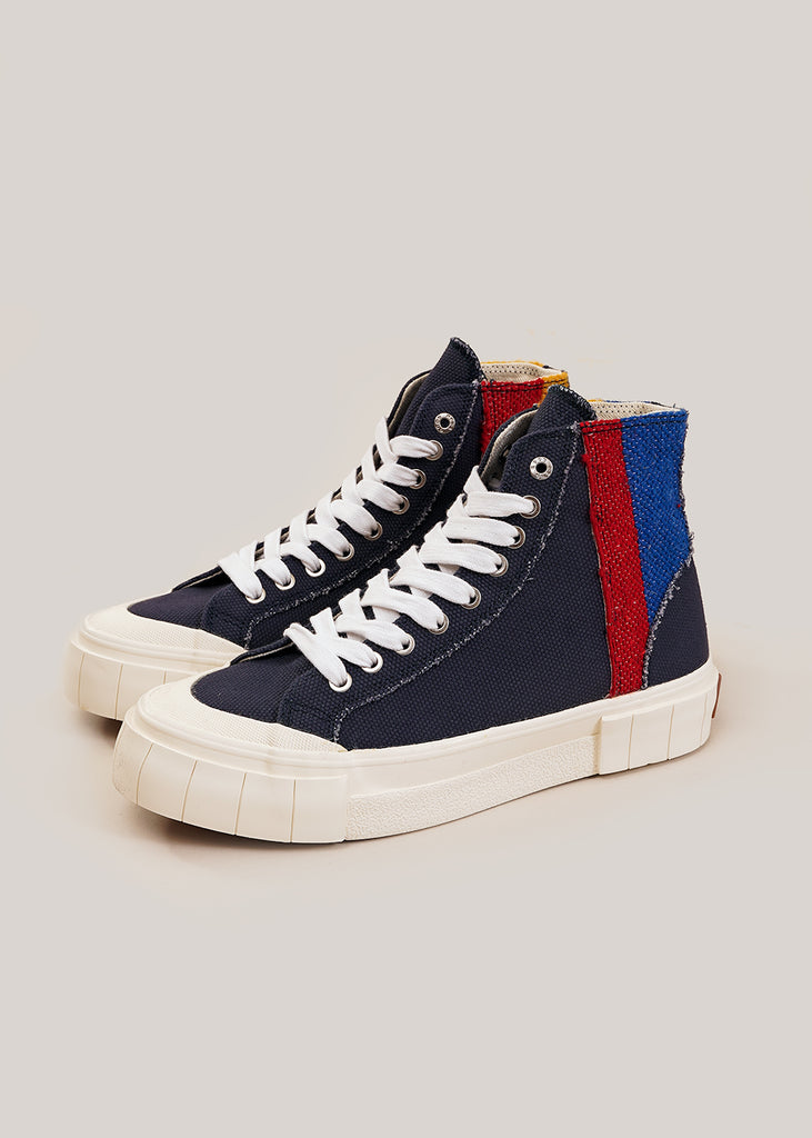 Navy Palm Moroccan Sneakers