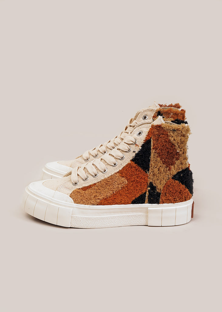 Oatmeal Palm Moroccan Sneakers