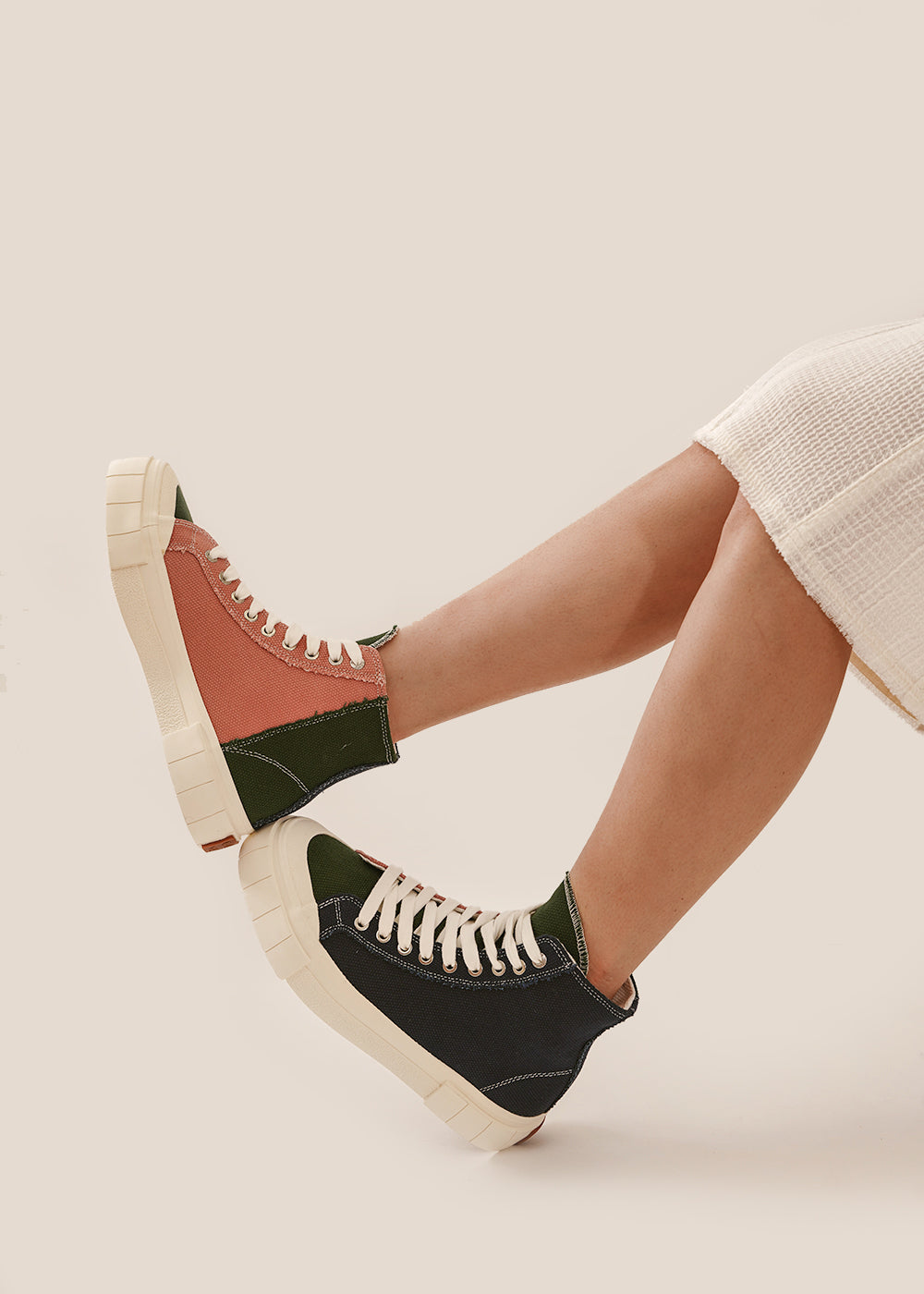 Tri-coloured Palm Seasonal Sneakers