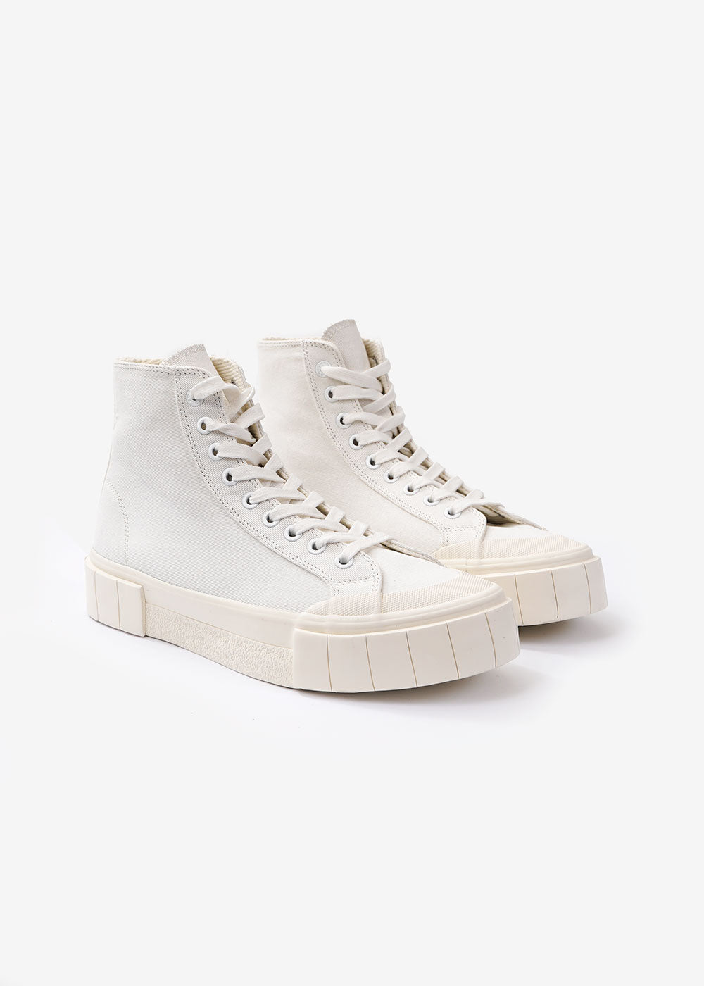 GOOD NEWS Off-White Bagger 2 Hi Sneakers — Shop sustainable fashion and slow fashion at New Classics Studios